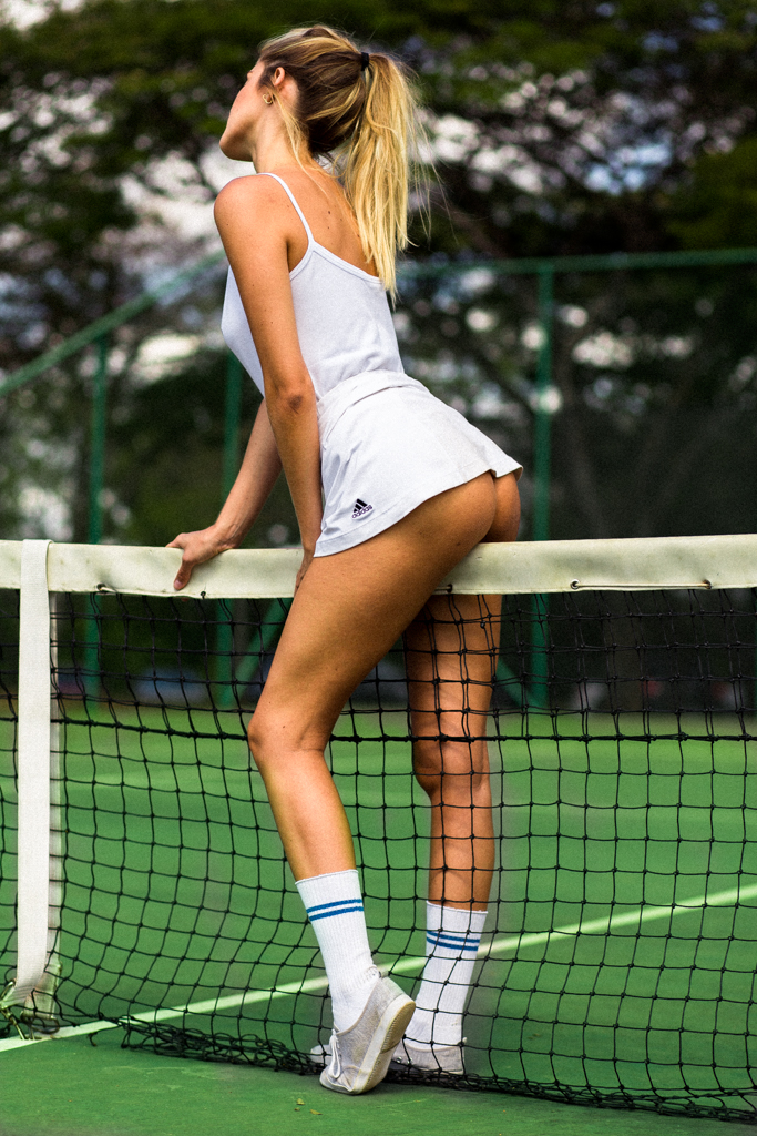 Lucy pinder in sexy tennis player costume